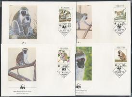 1986 WWF Majmok sor Mi 184-187 4 FDC
