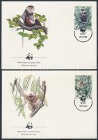 WWF Monkeys set on 4 FDC, WWF majmok sor 4 FDC