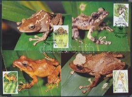 WWF Frogs set on 4 CM, WWF békák sor 4 CM