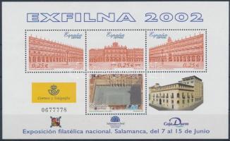 2002 EXFILNA Bélyegkiállítás blokk Mi 106