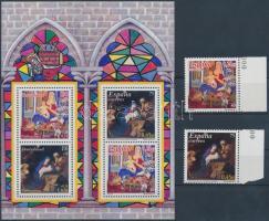 2001 Karácsony, festmények sor Mi 3669-3672 + blokk 102