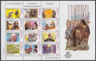 2002 Spanyolország történelme kisív (III.) Mi 3760-3771