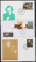 Paintings on 3 FDC, Festmények 3 FDC