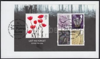 2006 Somme csata 90. évfordulója blokk Mi 33 papírlapon elsőnapi bélyegzéssel