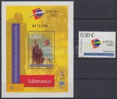 2002 ESPANA02 Bélyegkiállítás Mi 3722 + blokk 104