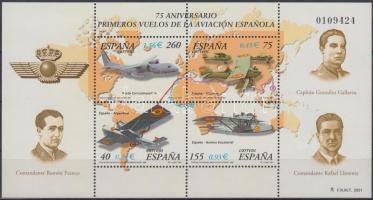 2001 Repülő blokk Mi 97 (képoldalon pici betapadás)