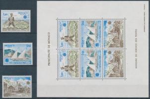 1979 Europa CEPT a posta és távközlés története sor Mi 1375-1377 + blokk Mi 15