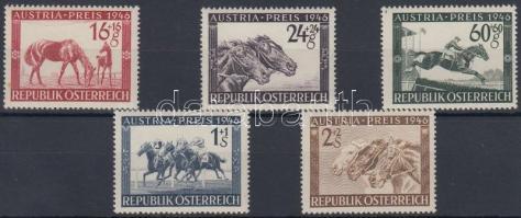 1946 Lóverseny: Osztrák Nagy-Díj sor Mi 785-789