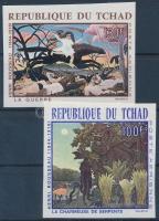 1968 Rousseau festmények vágott sor Mi 201-202