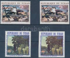 1968 Rousseau festmények fogazott + vágott sor Mi 201-202