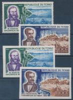 1969 Német Afrika-kutatók fogazott + vágott sor Mi 220-221
