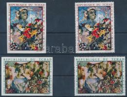 1970 Iba NDiaye festmények fogazott + vágott sor Mi 321-322