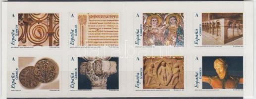 Romanesque Art in Aragon self-adhesive stamp-booklet, Román művészet Aragóniában öntapadós bélyegfüzet