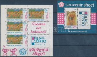 FILACENTO International Stamp Exhibition 2 blocks, FILACENTO nemzetközi bélyegkiállítás 2 blokk