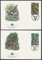 1984 WWF Okapi sor Mi 875-878 4 FDC