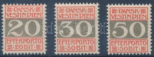 Numbers postage due stamps from a set, Számok portó bélyegek egy sorból