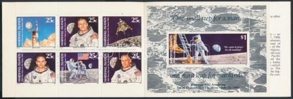 1989 Első ember a Holdon bélyegfüzet Mi 237-243