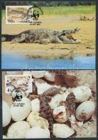 WWF Nile crocodiles set on 4 CM, WWF nílusi krokodilok sor 4 CM