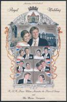 2002 A koronaherceg esküvője kisív Mi 7342-7347