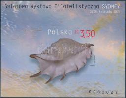 2005 Nemzetközi bélyegkiállítás Sydneyben vágott blokk Mi 161 B
