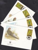 1987 WWF papagáj sor Mi 421-424 4 FDC