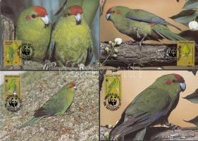 1987 WWF papagáj sor Mi 421-424 4 CM