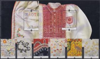 Arts & Crafts: Embroidery set + block set, Kézművesség: Hímzés sor + blokksor