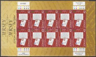 2008 Europa CEPT a levél 2 kisív Mi 1334-1335