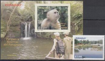 Conservation Parks stamp + block, Természetvédelmi parkok bélyeg + blokk