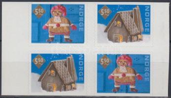 2001 Karácsony öntapadós sor négyestömbben Mi 1411-1412