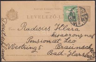 1909 Díjkiegészített díjjegyes levelezőlap Németországba