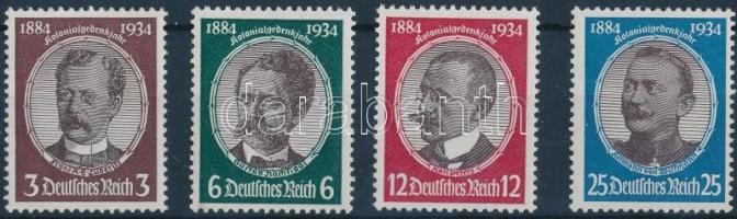 1934 Gyarmati kutatók sor Mi 540-543