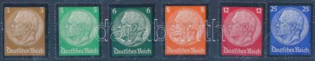 1934 Paul von Hindenburg emlékére sor Mi 548-553