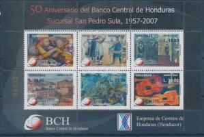 2007 50 éves a központi bank blokk Mi 90