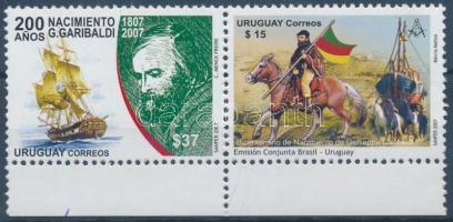 Birth bicentenary of Giuseppe Garibaldi margin pair, 200 éve született Giuseppe Garibaldi ívszéli pár