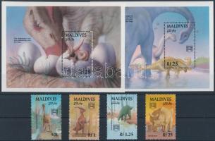 1992 Bélyegkiállítás: Dinoszauruszok 4 klf érték Mi 1776-1778 + 1787 + 2 blokk 239-240