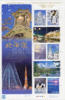 Hokkaido in winter and spring mini sheet, Hokkaido télen és tavasszal kisív