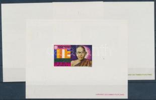 1971 2 éve hunyt el Samdech Chuon-Nath nyelvújító de lux blokksor Mi 286-288