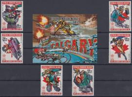 1987 Téli olimpia 1988, Calgary (I) sor Mi 1065-1070 A + blokk 49A