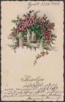 Flowers, litho