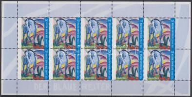2012 100 éve alakult meg a Művész Csoport, A kék ló kisív Mi 2911