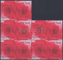 Greeting stamps in block of 5, Üdvözlő bélyeg ötöstömb