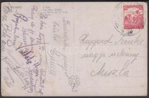 1916 Képeslap DUNASZENTBENEDEK - Miszla