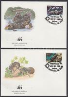 1986 WWF Tengeri csigák és kagylók sor Mi 73-76 4 FDC