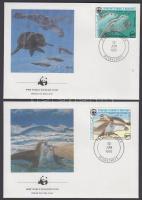 1986 WWF fókák sor Mi 871-874 4 FDC