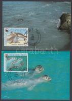 1986 WWF fókák sor Mi 871-874 4 CM