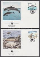 1990 WWF tengeri állatok sor Mi 497-500 4 FDC