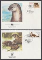 1987 WWF vidra sor Mi 3107-3110 4 FDC