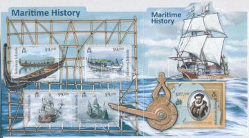 The history of shipping minisheet, A hajózás története kisív