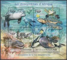 African wildlife - marine animals minisheet, Afrika élővilága - tengeri állatok kisív